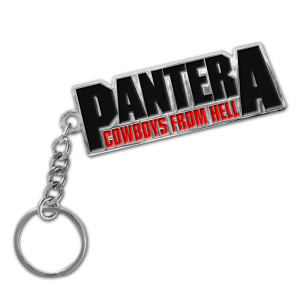 Pantera Cowboys From Hell Logo Keychain