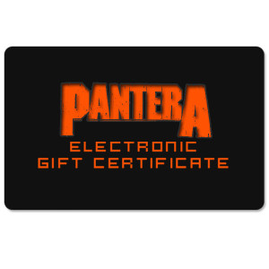 Pantera Electronic Gift Certificate