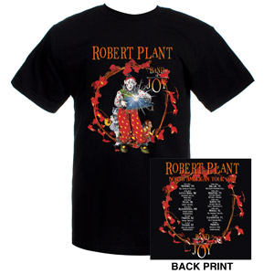 Robert Plant 2010 Band Of Joy Album Cover T-Shirt