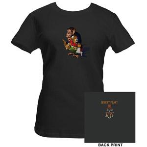 Womens Robert Plant Asphalt Monkey T-Shirt