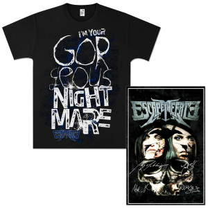 Limited Edition Escape The Fate AUTOGRAPHED Litho/T-Shirt Combo