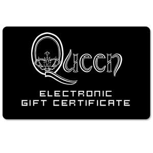 Queen Electronic Gift Certificate