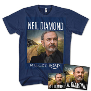 Neil Diamond Melody Road CD + T-shirt Bundle