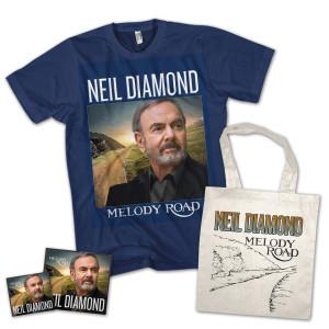 Neil Diamond- Melody Road CD, Tote Bag + T Shirt Bundle