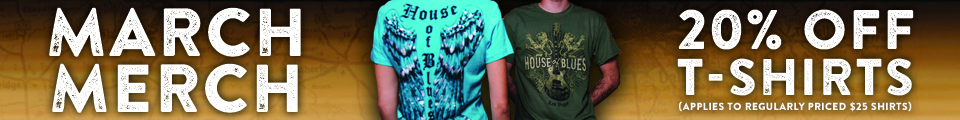 House of Blues March Merch Salet