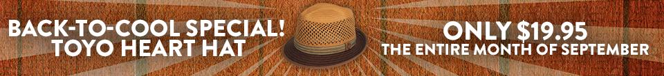 Toyo Hat Sale