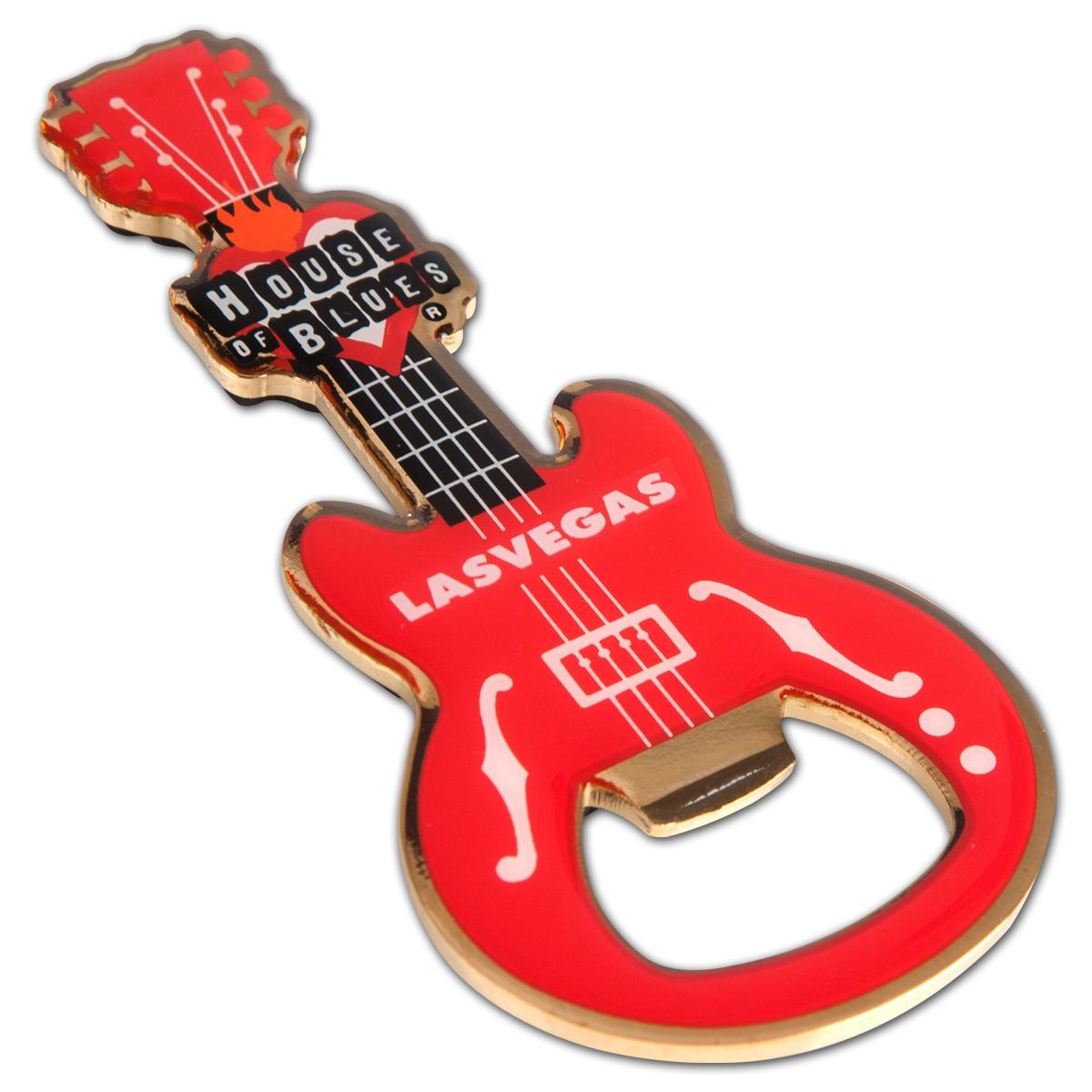 guitar bottle opener las vegas shop the house of blues official store. Black Bedroom Furniture Sets. Home Design Ideas