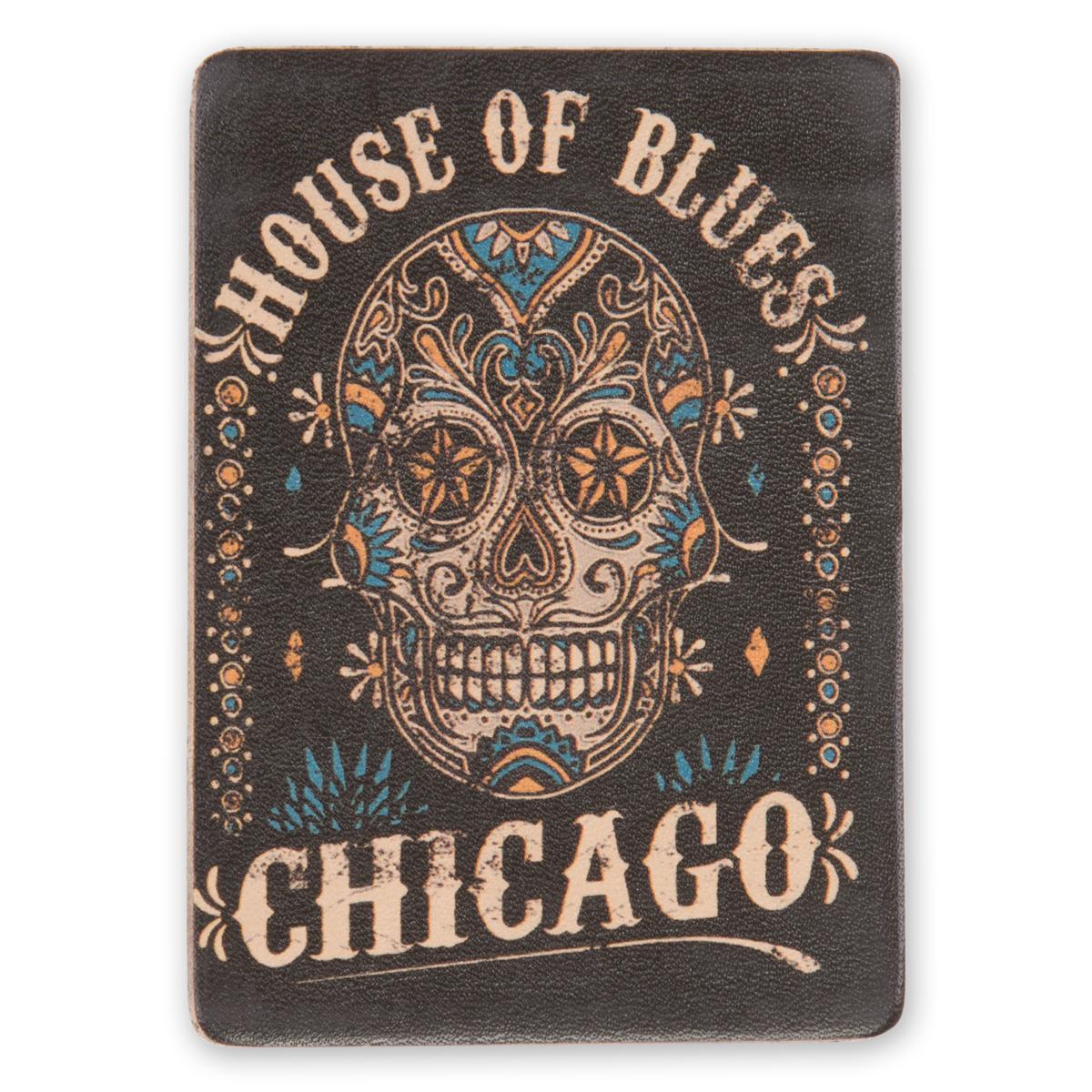 HOB Leather Magnet - Skull Chicago