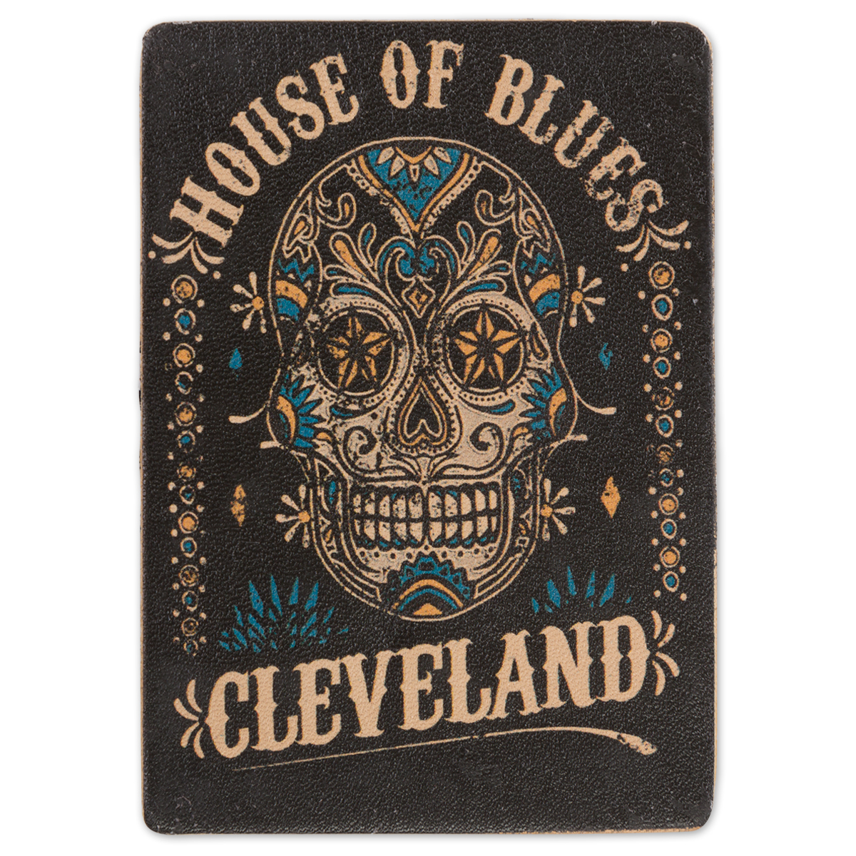 HOB Leather Magnet - Skull Cleveland
