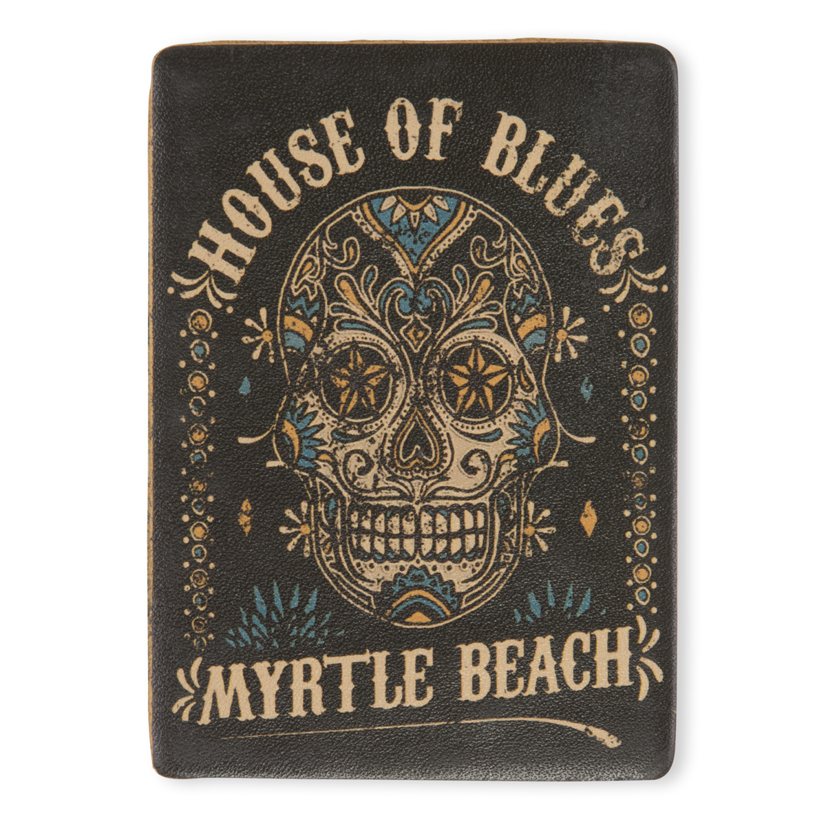 HOB Leather Magnet - Skull Myrtle Beach