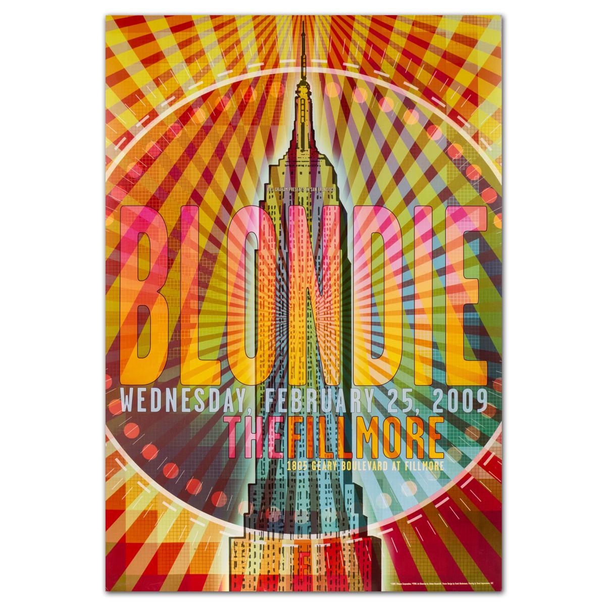 Fillmore - Blondie 2/25/2009 Poster
