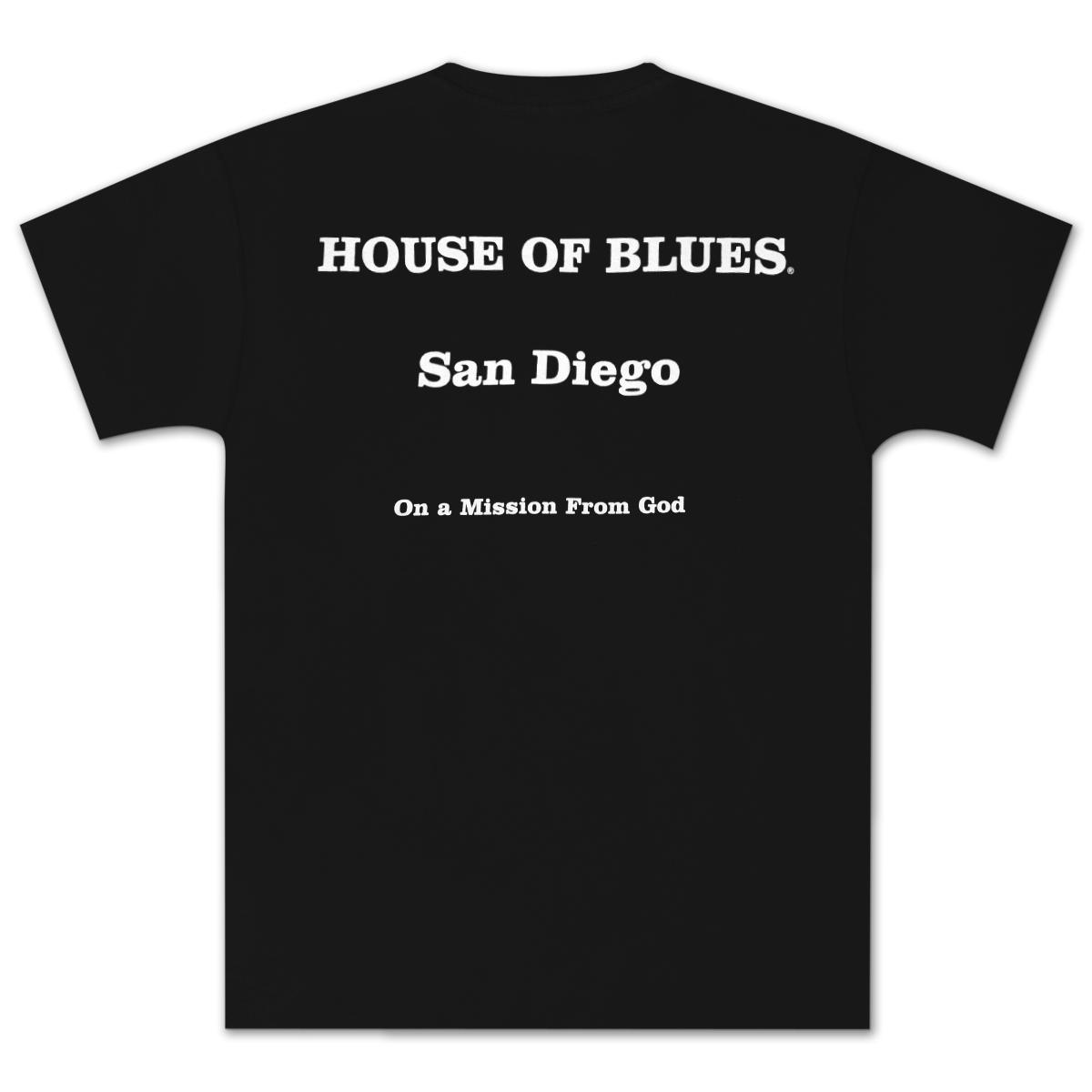 House of Blues Black J&E T-Shirt - San Diego
