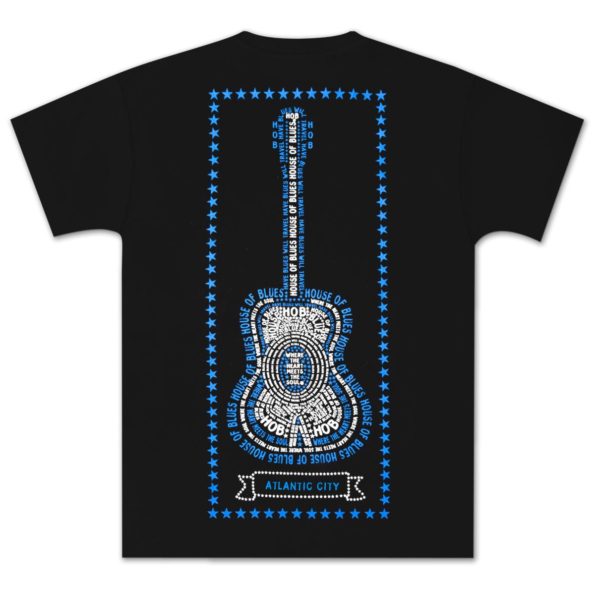 House of Blues Star Guitar T-Shirt - Atlantic City