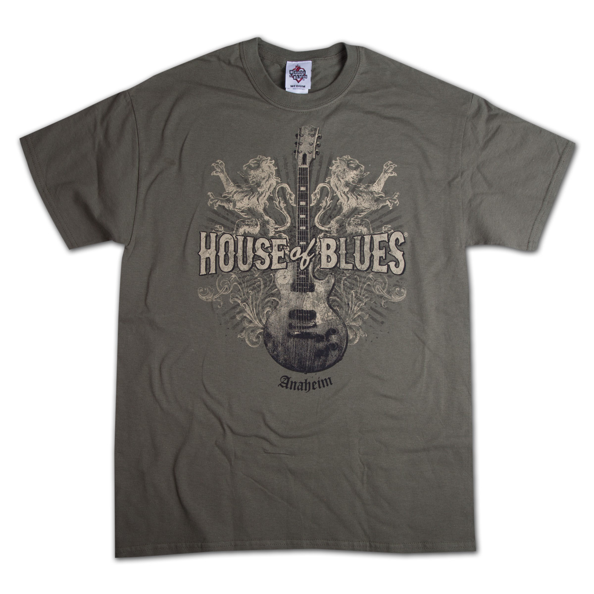 Lions guitar t shirt anaheim shop the house of blues for King s fish house anaheim