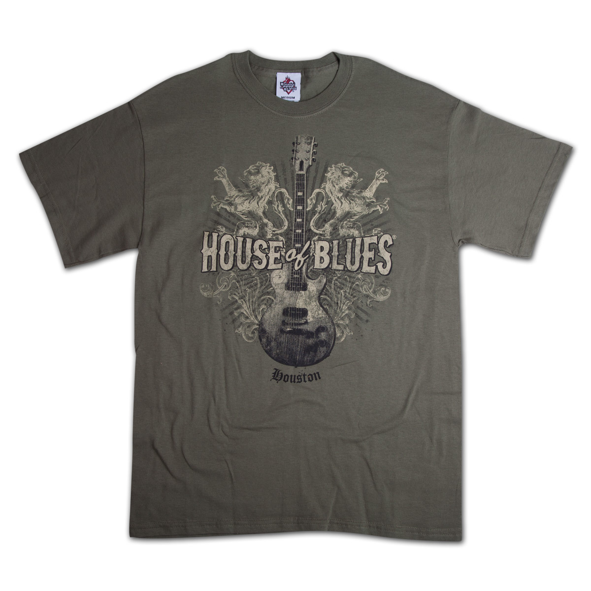 Lions Guitar T-Shirt - Houston