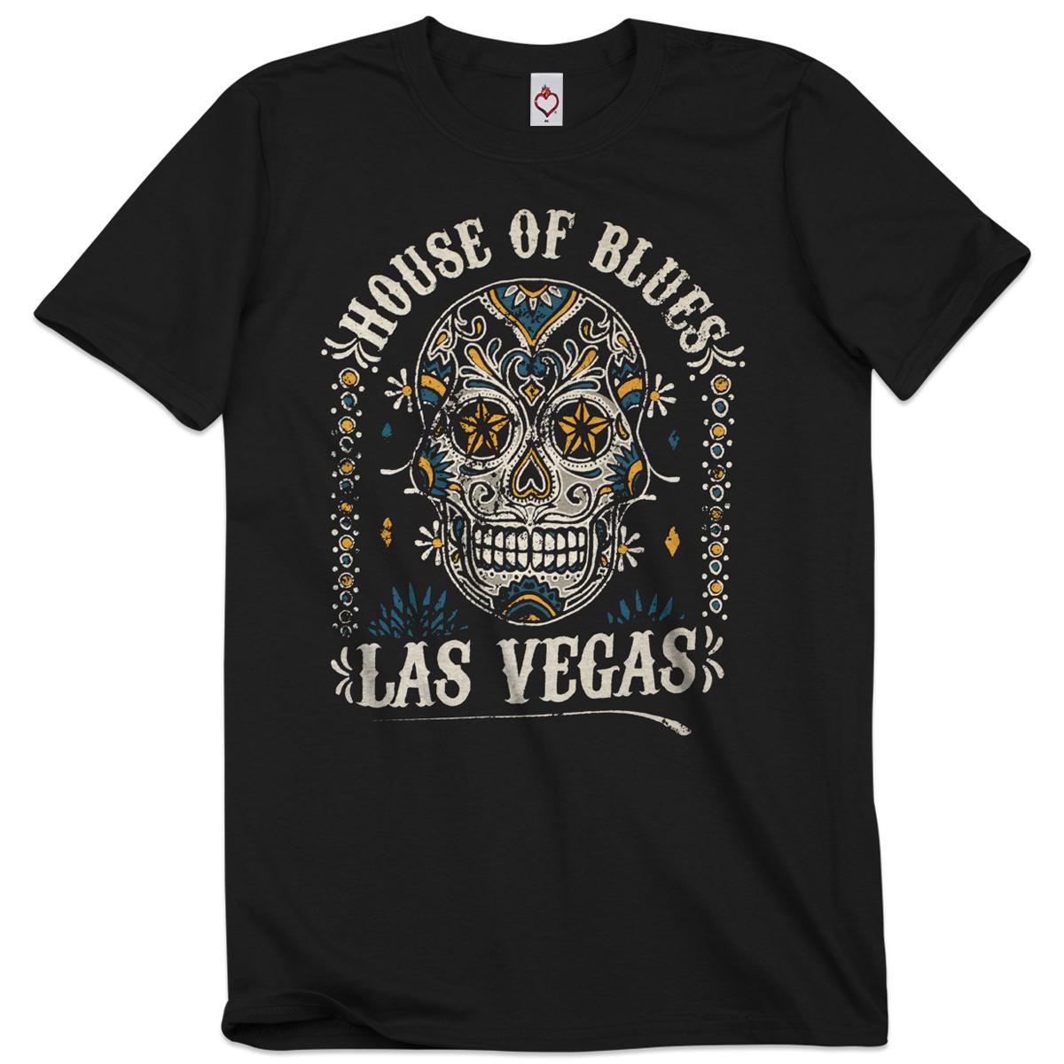 Unisex Sugar Skull Tee - Las Vegas