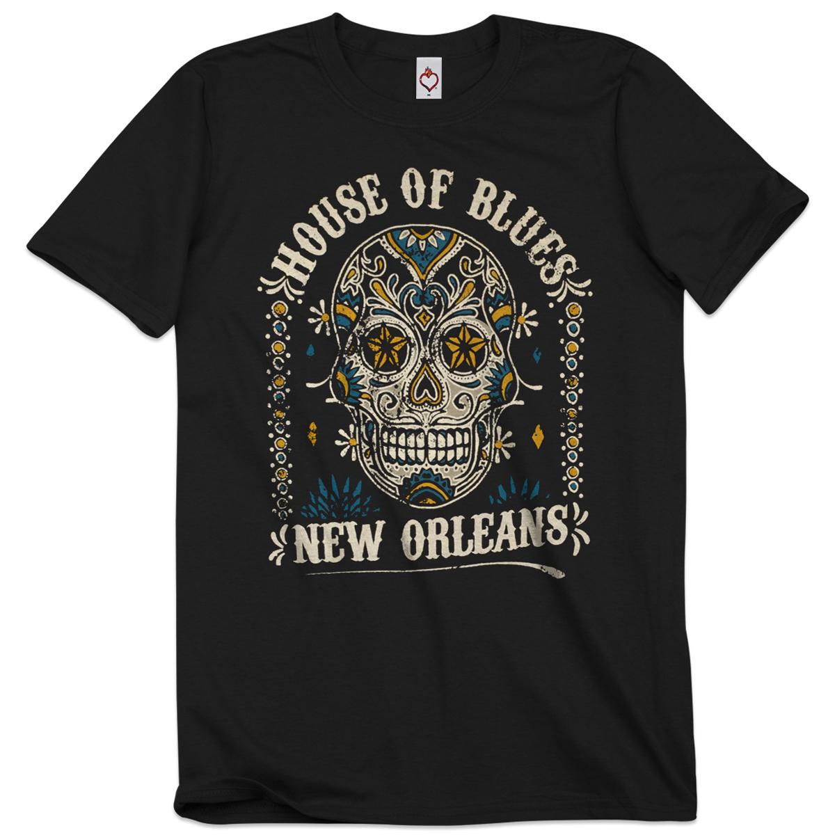 Unisex Sugar Skull Tee - New Orleans