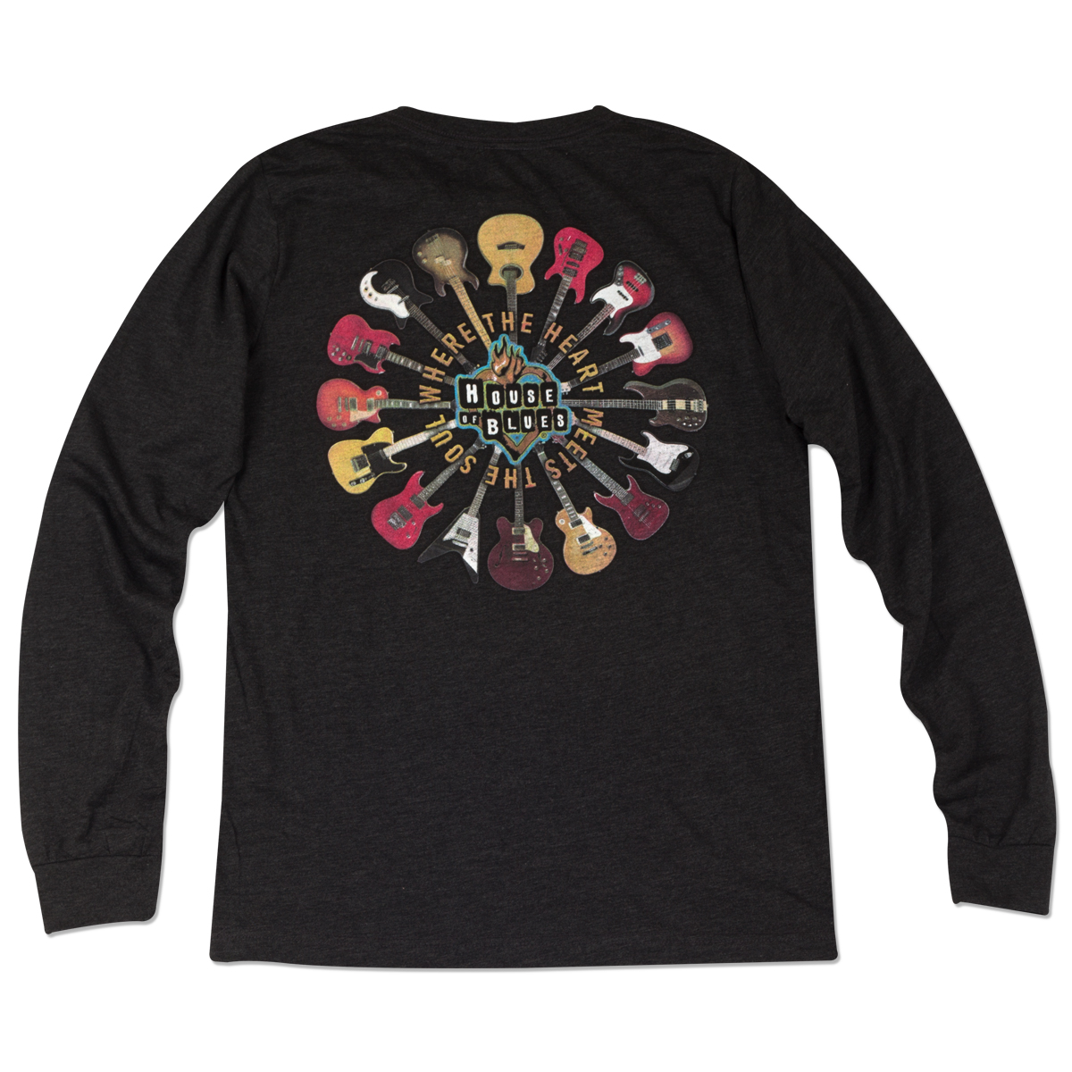 house of blues guitar ring long sleeve tee las vegas shop the house of blues official store. Black Bedroom Furniture Sets. Home Design Ideas