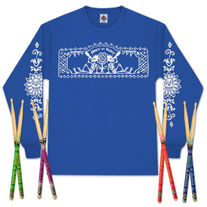 House of Blues Drinkers Longsleeve Shirt and Drumsticks Bundle