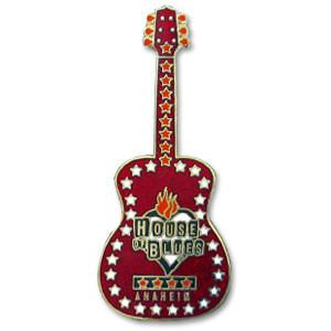 House of Blues Glitter Guitar Pin - Anaheim
