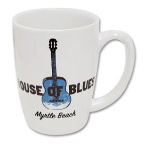 House of Blues White Guitar Mug - Myrtle Beach