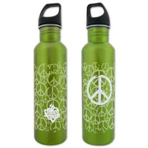 House of Blues Green Peace Water Bottle