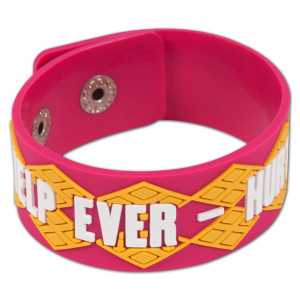 Help Ever - Hurt Never Pink Bracelet