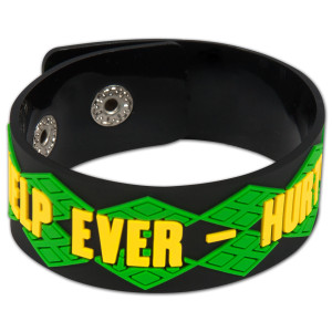 Help Ever - Hurt Never Black Bracelet