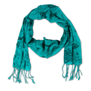 House of Blues Blue Guitar Scarf