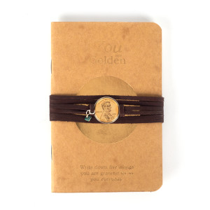 You Are Golden Kraft Jotter Journal with Wrap Bracelet