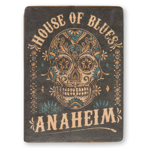 HOB Leather Magnet - Skull Anaheim