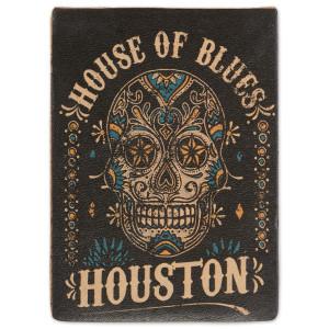HOB Leather Magnet - Skull Houston
