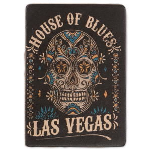 HOB Leather Magnet - Skull Las Vegas