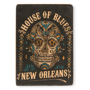 HOB Leather Magnet - Skull New Orleans