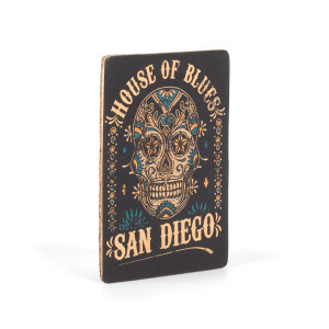 HOB Leather Magnet - Skull San Diego