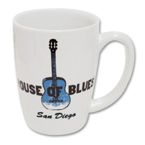 House of Blues White Guitar Mug