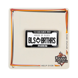 Bbros. License Plate Pin