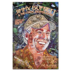 Fillmore - Jimmy Buffett 10/20/2005 Poster