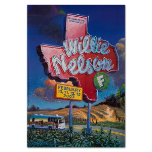 Fillmore - Willie Nelson 2/10-13/03 Poster