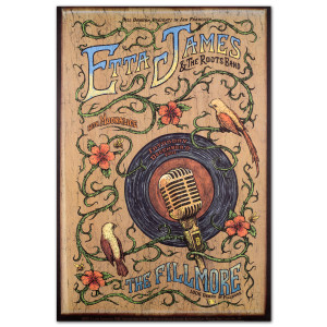 Fillmore - Etta James & The Roots Band 12/8/2007 Poster