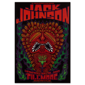 Fillmore - Jack Johnson 5/28/2003 Poster