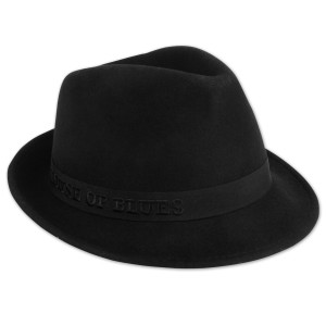 House of Blues Black Fedora Hat