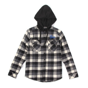 White Flannel Hoodie