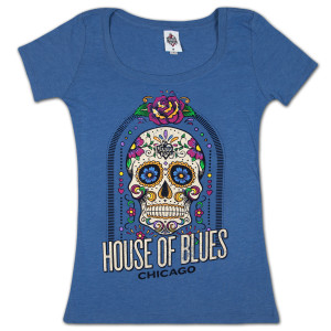 House of Blues Sugar Skull Women's T-Shirt - Chicago