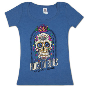 House of Blues Sugar Skull Women's T-Shirt - New Orleans
