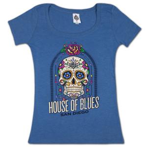 House of Blues Sugar Skull Women's T-Shirt - San Diego