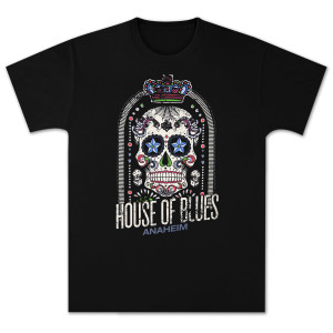 House of Blues Crown Skull Men's T-Shirt - Anaheim