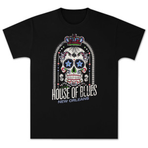 House of Blues Crown Skull Men's T-Shirt - New Orleans