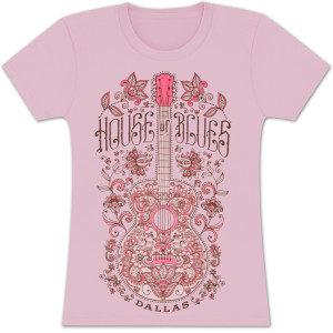 House of Blues Henna Guitar Women's T-Shirt - Dallas