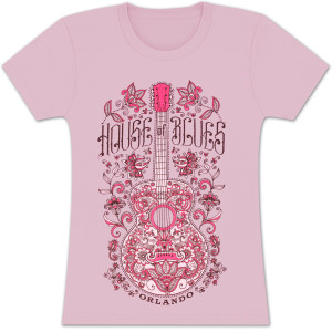 House of Blues Henna Guitar Women's T-Shirt - Orlando